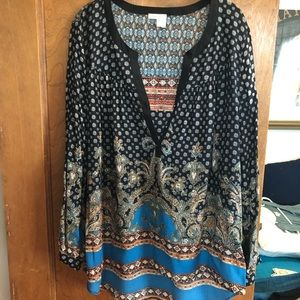 Anthropologie tunic by Meadow Rue size L